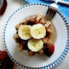 Overnight Brown Sugar, Banana Yogurt Waffles.Crispy, crunchy light and ...
