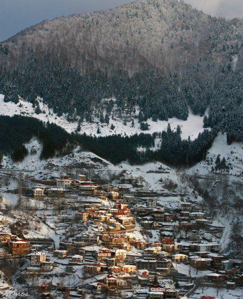 Snow in Metsovo, Epirus, Greece