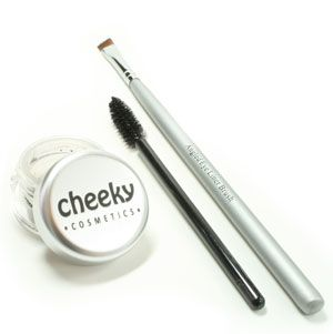 Cheeky Cosmetics - Natural Mineral Brow Kit - $22. Comes with 1 unscented vegan eyebrow powder, 1 angled liner brush and 1 spoolie. Available @ CheekyCosmetics.ca (Vernon, BC) #unscented #scentfree #fragrancefree #vegan