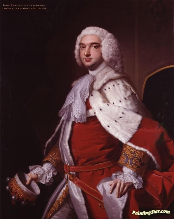 Portrait of john perceval,2nd earl of egmont(1711-1770) Artwork by Thomas Hudson Hand-painted and Art Prints on canvas for sale,you can custom the size and frame