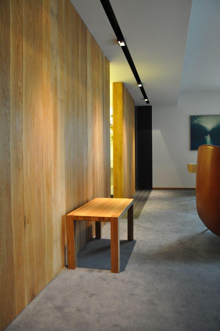 Handmade bench for Henne Kirkeby Kro. That is an Inn in Denmark with 12 special rooms.   http://www.kjeldtoft.com/