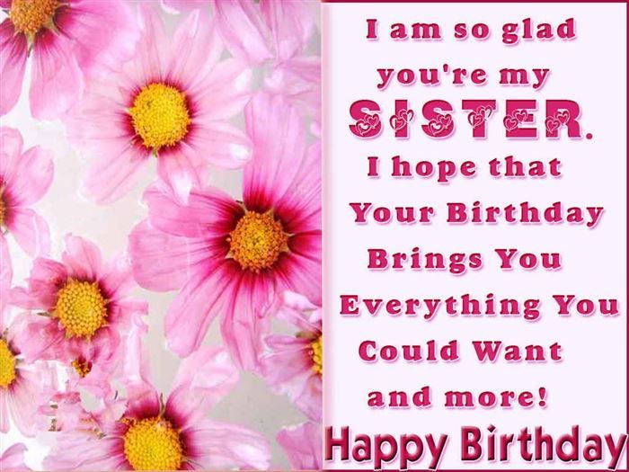 The 25 best Birthday wishes sms ideas – Birthday Card Message for Sister