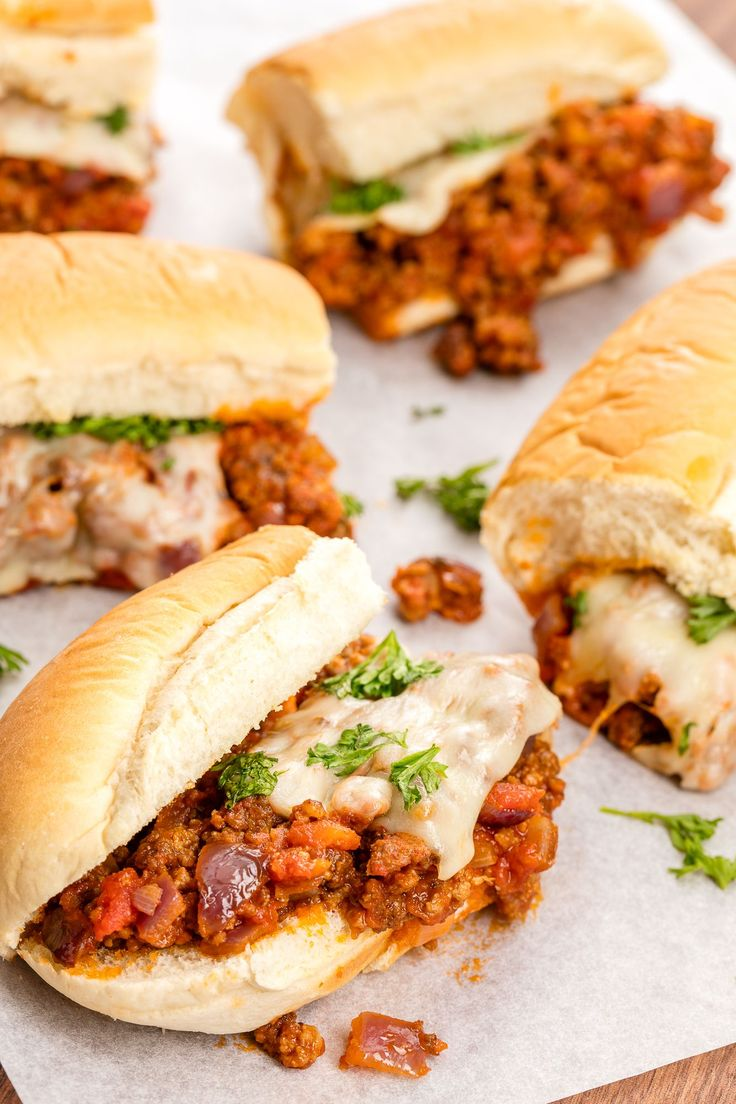 With ground turkey swapped infor beef and an Italian flair,thesesloppy joes are super addicting.