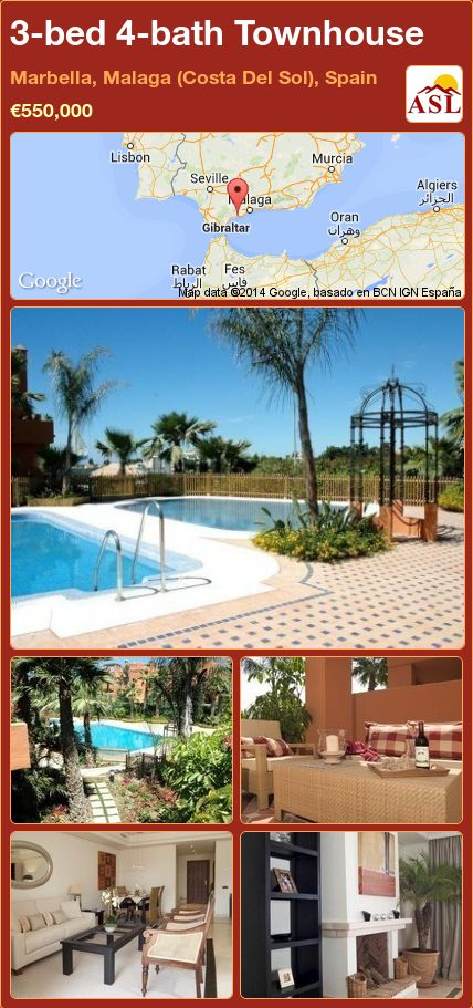 3-bed 4-bath Townhouse in Marbella, Malaga (Costa Del Sol), Spain ►€550,000 #PropertyForSaleInSpain