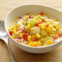 ... fresh corn salad with scallions potatoes with scallions corn chowder