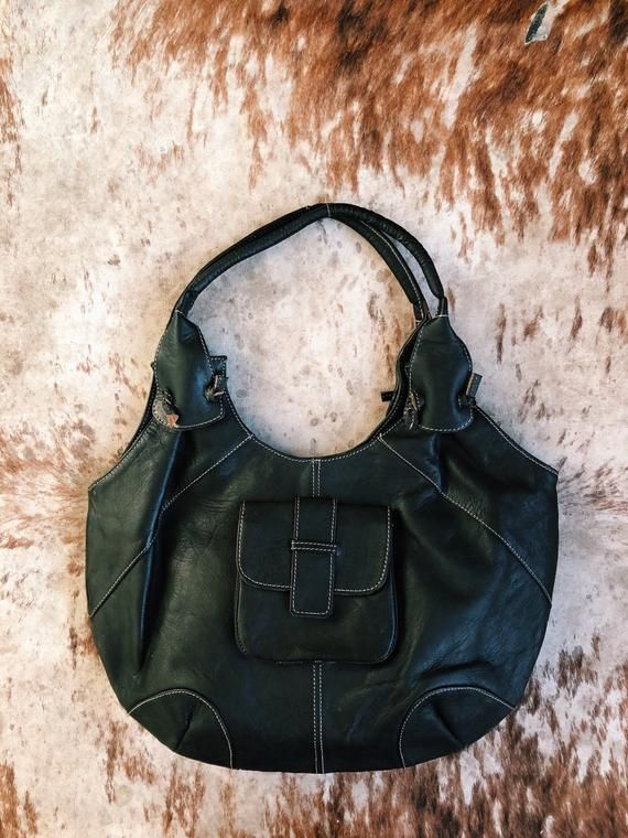 71d2d2b8d3f A beautiful hobo style in luxuriously rich leather. Big enough for  everyday, fabulous enough for play. We love her go-with-everything dark,  rich leather, ...