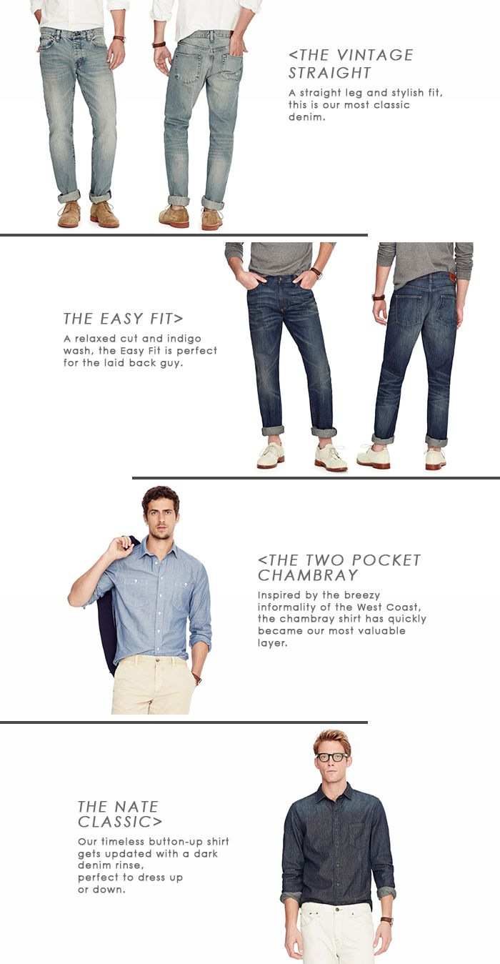 #Fossil Men's Denim Guide: Shirt, jacket, or jeans – denim is a staple that every man should have in his closet. For spring, here are the four styles we're coveting. #fossilstyle