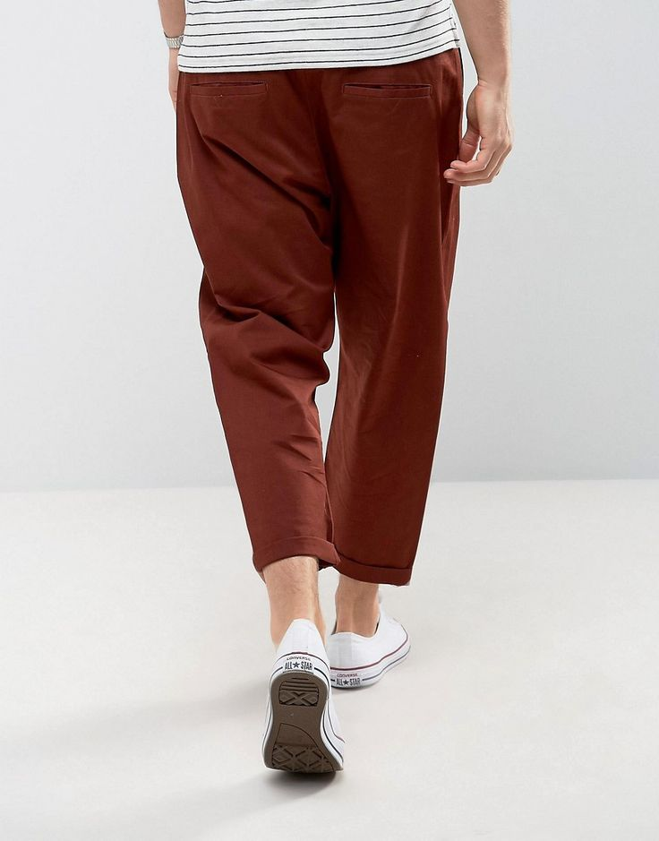 ASOS Oversized Tapered Chino in Rust - Brown