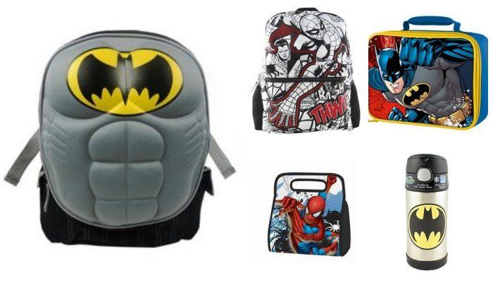 Batman VS Spiderman- back to school shopping, it's so hard to choose!  #batman vs #spiderman