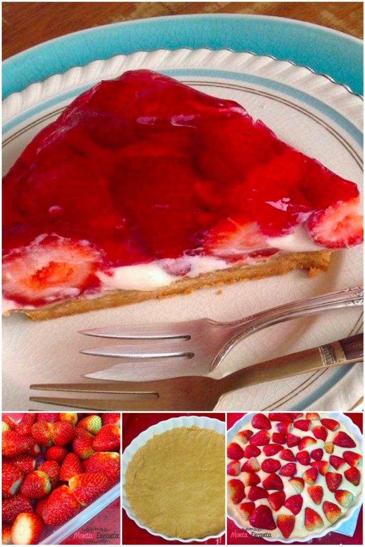 Torta de morango… hummmmm…. Uma versão bem prática e fácil de fazer da nossa deliciosa torta de morango. As vezes ser prático é absolutamente necessário, nossa vida é corrida e isso nã…