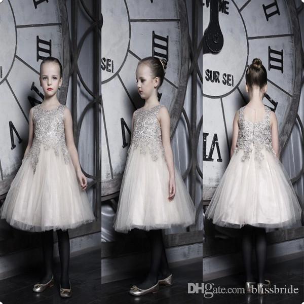 Desfile Vestidos De Baile De Encaje Blanco Azul Royal Ritzee Chicas Desfile Sin Mangas Vestidos Hinchados Glitz Desfile Vestido Por