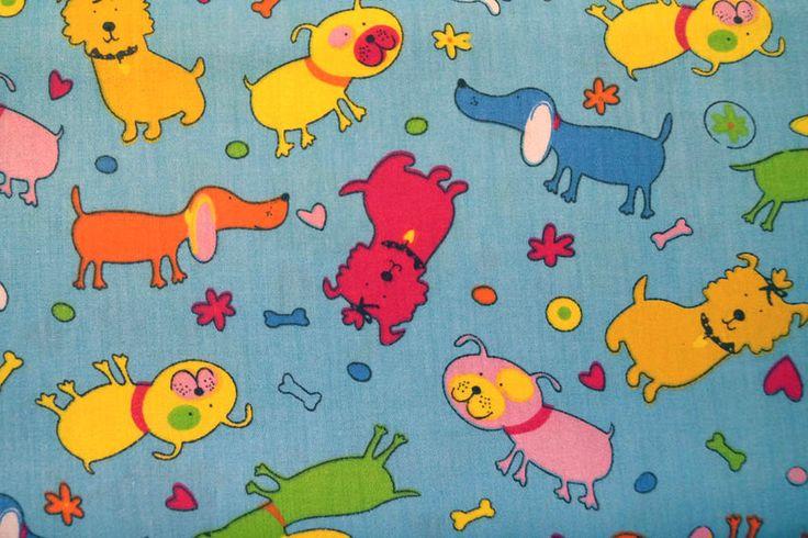 B36 Kinderkatoen dieren blauw/multi