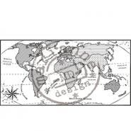 Marianne Design Map of World clear stempel