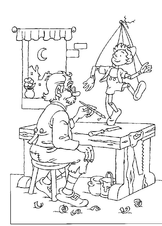 pinnochio coloring pages and games - photo#28
