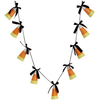 raz candy corn garland halloween decoration 12 - Candy Corn Halloween Decorations