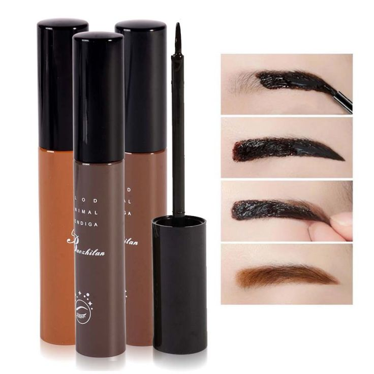 Newest Makeup Cosmetics 3 Colors Waterproof Dye Eyebrow Mascara Cream Eye Brow Gel Make Up Kit Make It Natural/Thick