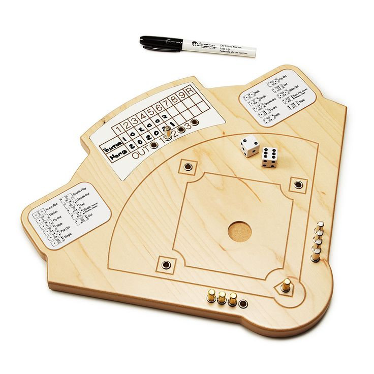 BASEBALL GAME | Wooden baseball board game | UncommonGoods // Would be cute fathers day gift from Z to Dad (to play together in a few years)... [made me think of Lionel/Dad, too! :) cc: @Sara Gillis ]