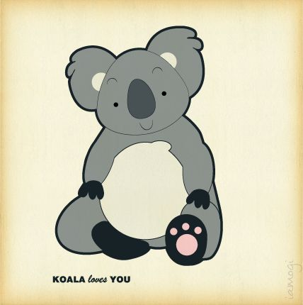 koala loves you