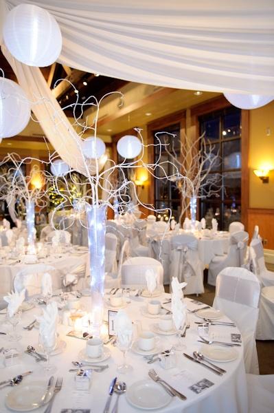 White winter wedding