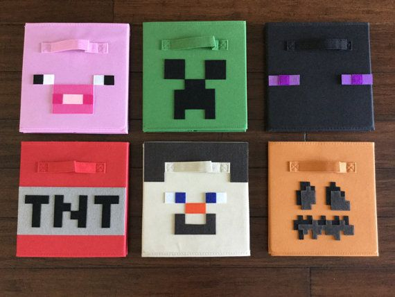 This Minecraft Storage Bin Set Is A Great Addition To The