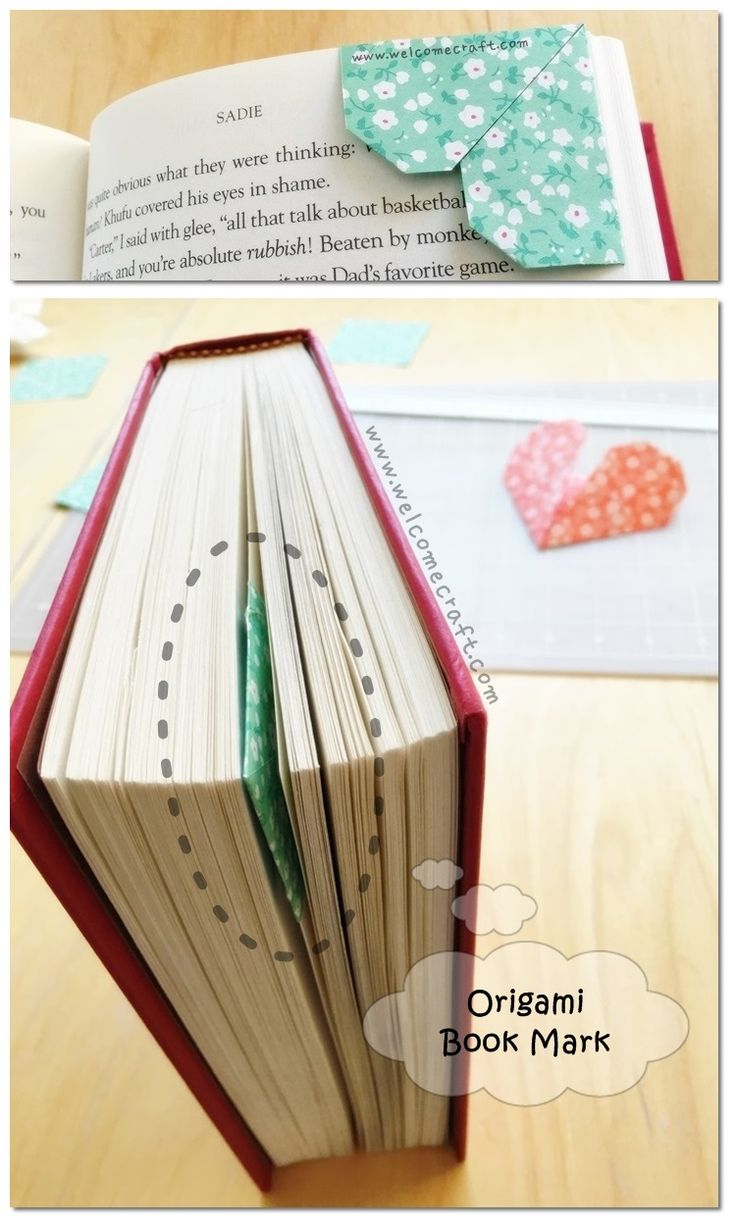 how to make origami heart bookmark diy step by step