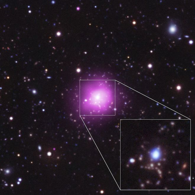 The Phoenix galaxy cluster may be the biggest, brightest object ever discovered. It's also producing new stars very rapidly.: Composition Image, Finals Frontier, Image Relea, Cosmic Records, Phoenix Cluster, Form Stars, Galaxies Cluster, Outer Spaces, Phoenix Galaxies