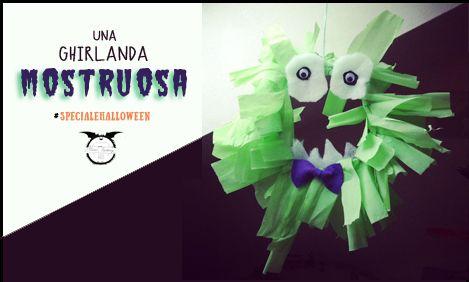 Halloween Diy & craft for kids - Ghirlanda di Halloween | MiniFactory Simple Monster Wreath tutorial - Come realizzare in modo facile e veloce un mostro di ghirlanda !