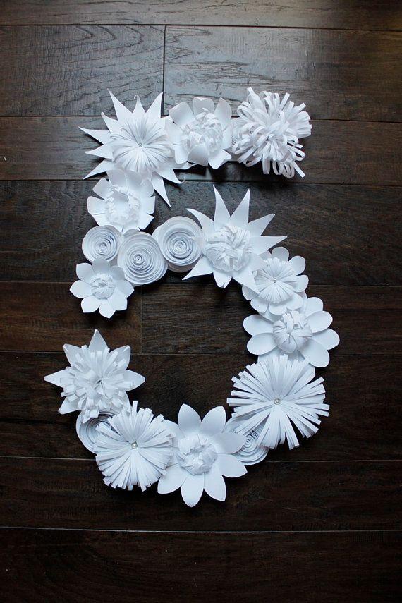 nombre de fleurs papier