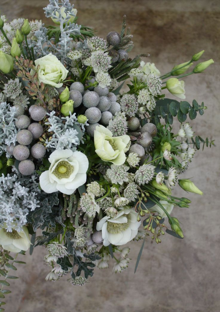Winter whites & silvers bouquet.