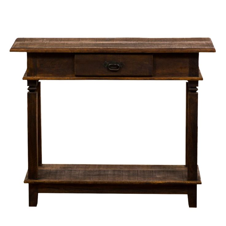 Traditional Console Eco-Friendly Reclaimed Solid Wood Table on Chairish.com