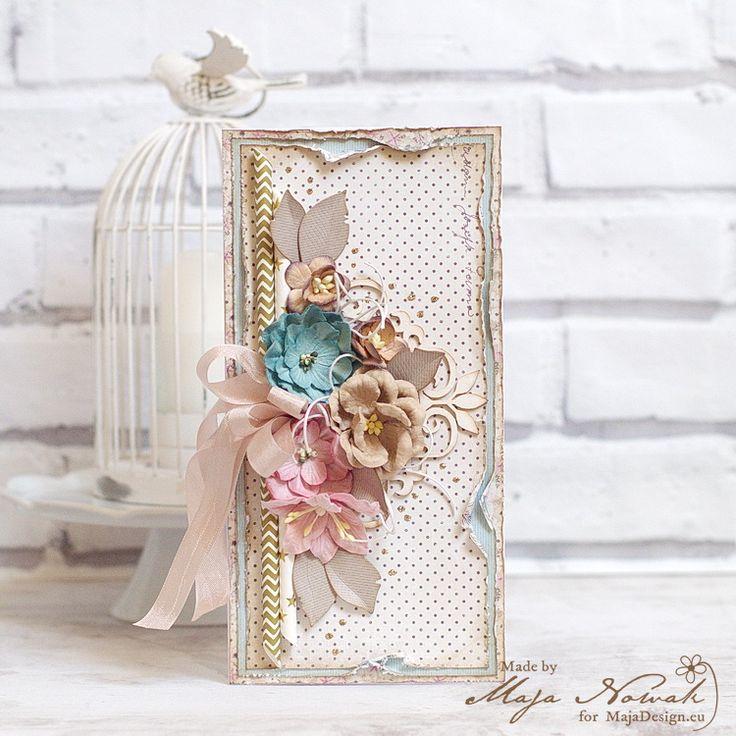 CraftHobby Oliwiaen: Flowery Card. Kartka okolicznościowa