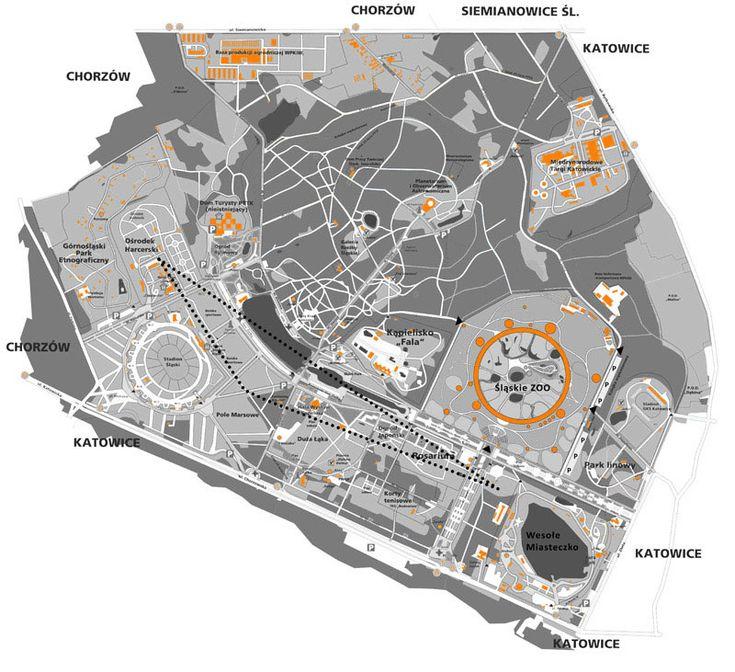 Schemat Parku Śląskiego