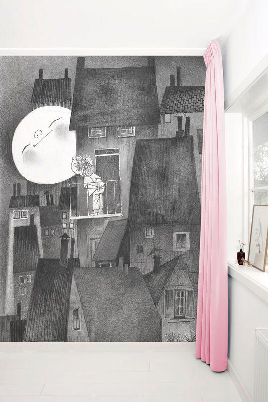 Fotobehang van KEK Amsterdam - Wallpaper Story 048 'Moonlight' door Fiep Westendorp