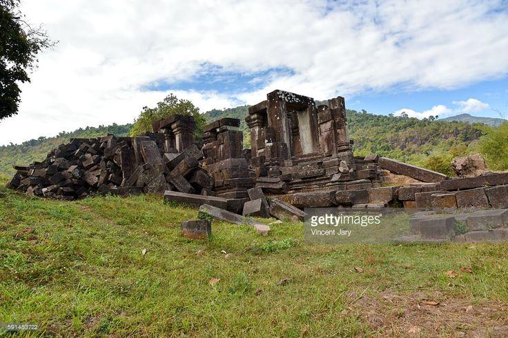 Hong Nang Sida Temple Champasak Laos buddhist, UNESCO world heritage.