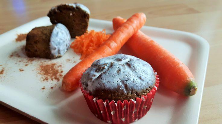 Karotten Protein Muffins   Fitnessfood   Hanfprotein   Snack  Sportküche