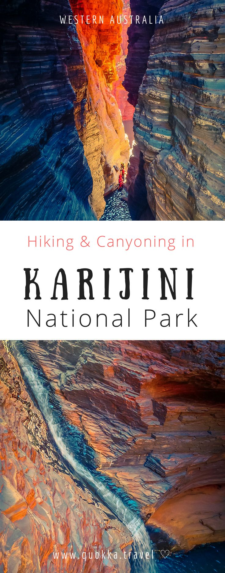 Karijini is Western Australias second largest park and offers many adventurous things to those who love nature. The huge red mountain formations, waterfalls and breathtaking gorges are stunning. It is fair to say that Karijini has been one of the most bea