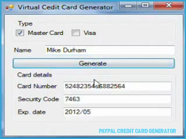 How To Get People To Like Paypal Credit Card Generator  paypal