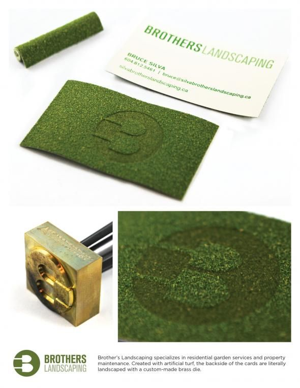 Brothers Landscaping: Turf Business cards