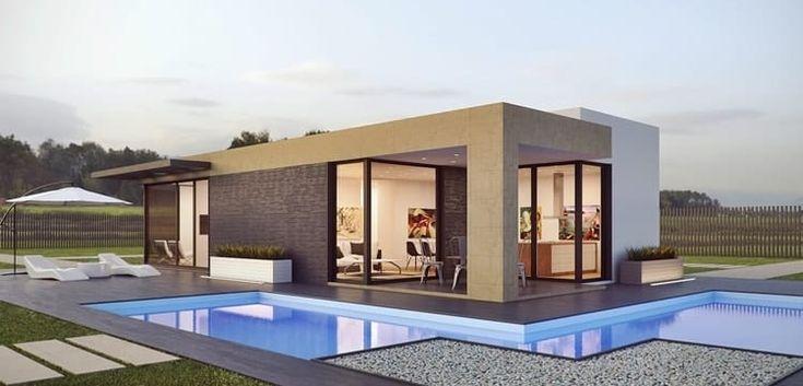 Ein kleines Modulhaus mit Pool entspricht dem heutigen Trend Minimalismus. Schauen Sie bei Lifestyle4unique für mehr Informationen vorbei!