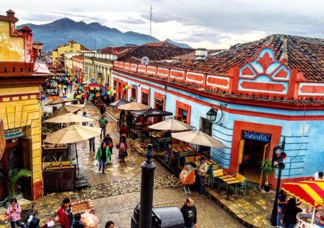 Los andadores peatonales en San Cristobal de las Casas,