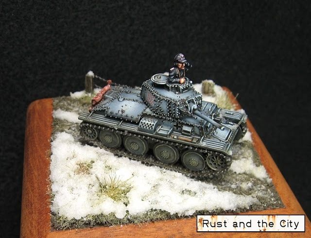 15mm Panzer 38t from Plastic Soldier Company. Painted for the single historical miniature category at Attack-X 2015 in Kamloops, BC.