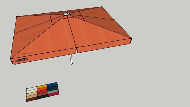 Sonnenschirm 4m x 5m rechteckig. Weitere Modelle online bei May GmbH. - 3D Warehouse