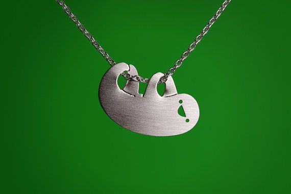 Adorable Sloth Necklace, part of a list of 47 pieces of animal jewelry on BuzzFeed