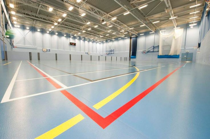 The multifunctional sports hall at Barton Court Grammar School benefited from our technical support & product range.