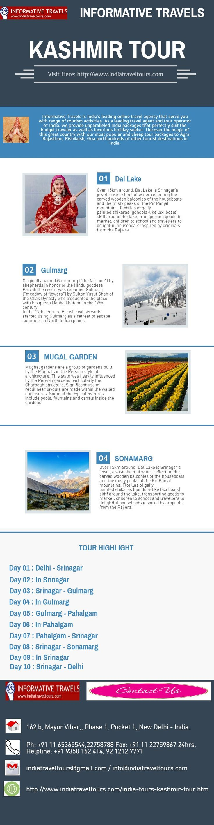 Informative Travels is India's leading online travel agency that serve you with range of tourism activities. As a leading travel agent and tour operator of India, we provide unparalleled India packages that perfectly suit the budget traveler as well as luxurious holiday seeker. Uncover the magic of this great country with our most popular and cheap tour packages to Agra, Rajasthan, Rishikesh, Goa and hundreds of other tourist destinations in India. Visit Here…