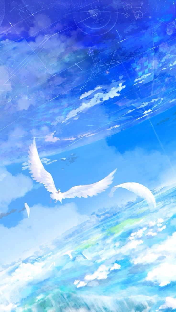 Best 25 anime scenery ideas on pinterest anime art - Blue anime wallpaper ...