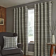 Fjord Grey Lined Eyelet Curtains