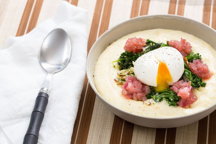 Broccolini & Goat Cheese Polenta with Soft-Boiled Eggs & Red Onion Jam -- I wasn't crazy about this one. It seemed nice at first, but then the strong flavors of the cheese, pickled onions, bitter broccolini, and rich yolk became too much too soon. I didn't have fun eating the leftovers.