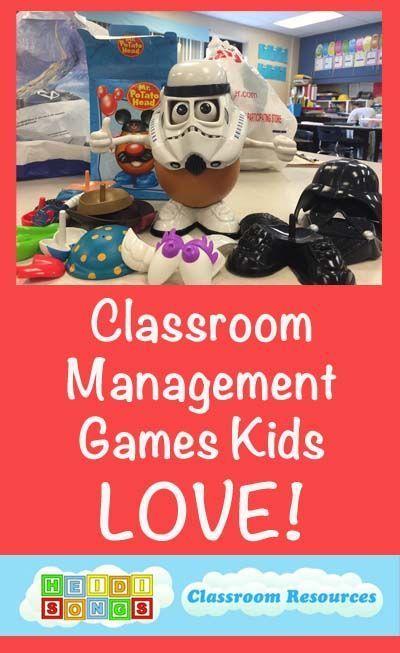 Five Classroom Management Games Kids LOVE for Pre-k, Kindergarten, and First Grade.