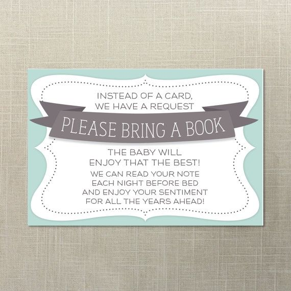 Baby Shower Book Request   Baby Shower Invite   Print At Home   Instead Of A  Card Bring A Book   Book For Baby   Instant Download
